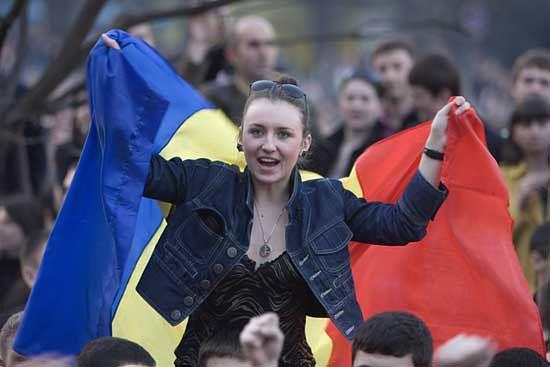 Rewolucja w Mołdawii zwołana przez Internet