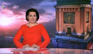 """Kadr z programu """"Wiadomości"""" w TVP z 21 lutego"""