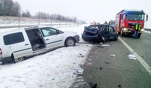 Miejsce wypadku, w którym zginął poseł Wójcikowski