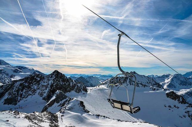 Narty jesienią - Stubaier Gletscher, Austria
