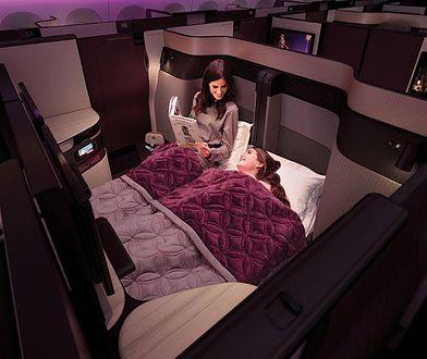 Podróż po królewsku. Podwójne łóżka w klasie biznesowej Qatar Airways
