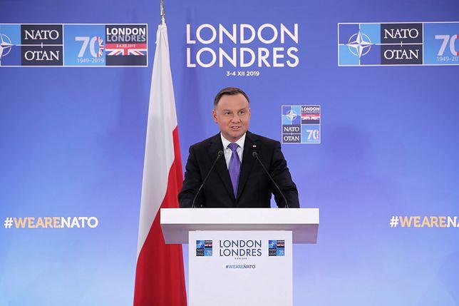 Andrzej Duda wypowiedział się w Londynie na temat Rosji