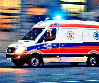 Wypadek busa koło Węgrowa. 6 osób rannych