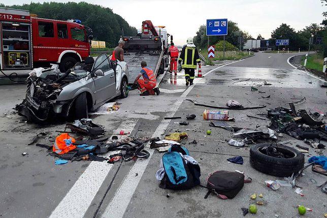 Trzy osoby z Polski zginęły w Niemczech. Do wypadku doszło na autostradzie A4