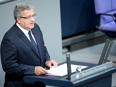 Niemiecka prasa o wystąpieniu prezydenta Bronisława Komorowskiego w Bundestagu