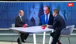 """Wybory do Europarlamentu 2019. Adam Bielan o """"wilczych oczach"""" Donalda Tuska"""