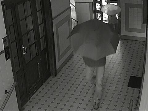 Złodzieje dla niepoznaki użyli parasolek