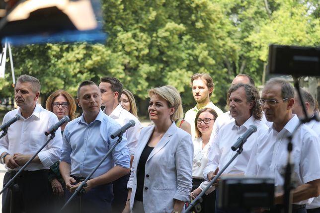 Sztab wyborczy Platformy Obywatelskiej.