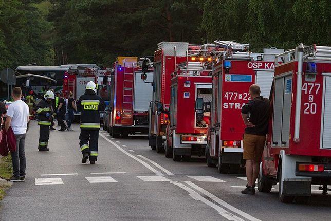 Strażacy walczą z pożarem hotelu w Augustowie, ewakuowanych zostało 50 osób