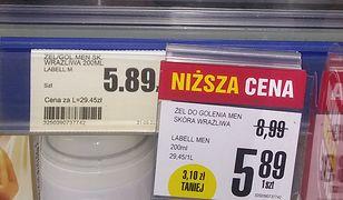 Po lewej - cena obowiązująca od września. Po prawej - aktualna zawieszka z ceną