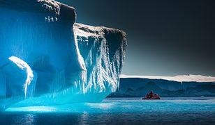 Pływając, lodowiec jest dużo bardziej narażony na coraz wyższą temperaturę wody