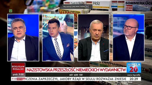 Dyskusja o niemieckich mediach w programie Michała Rachonia w TVP Info.