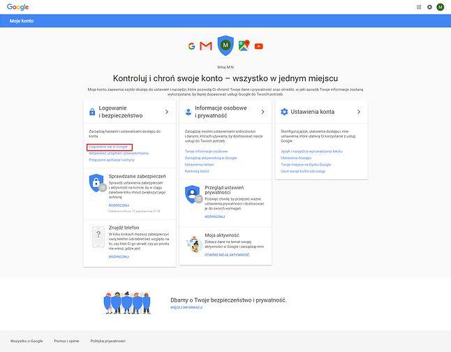 Logowanie do Google