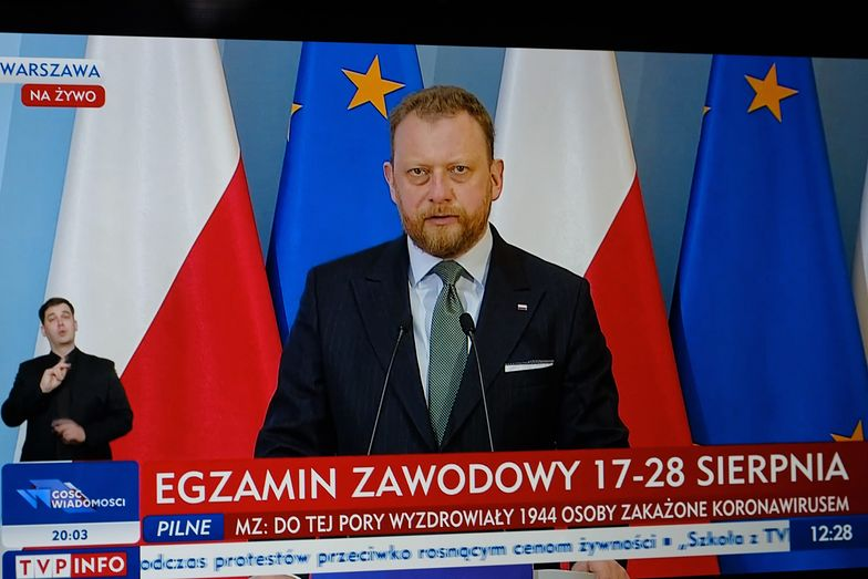 Koronawirus w Polsce. Łukasz Szumowski podczas konferencji prasowej