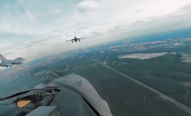 Zobacz stolicę z kabiny pilota F16! Niezwykły film w technologii 360 stopni [WIDEO]
