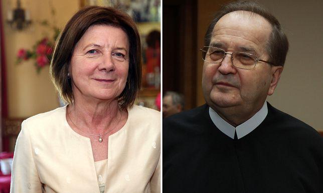 Maria Kaczyńska i Tadeusz Rydzyk
