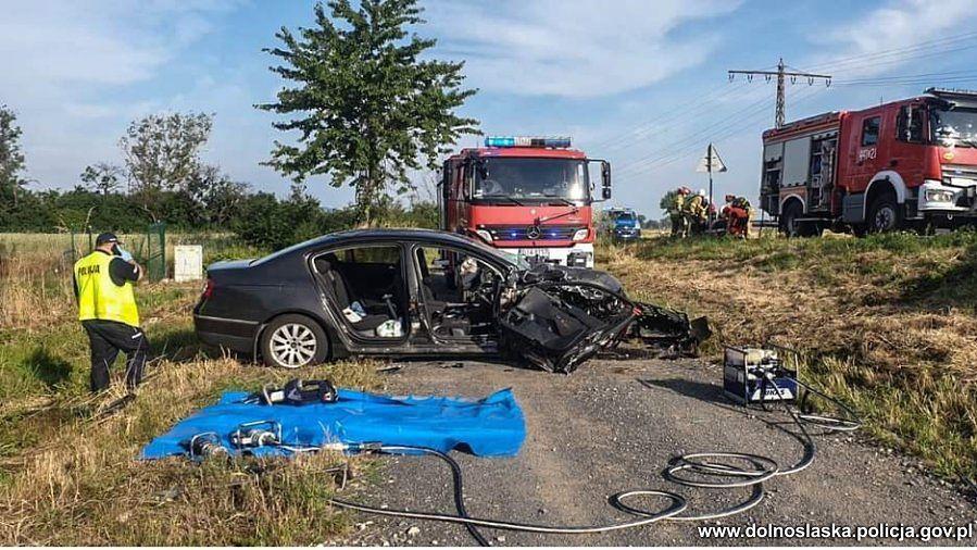 Jawor. Śmiertelny wypadek na drodze wojewódzkiej. Nie żyje 51-latka