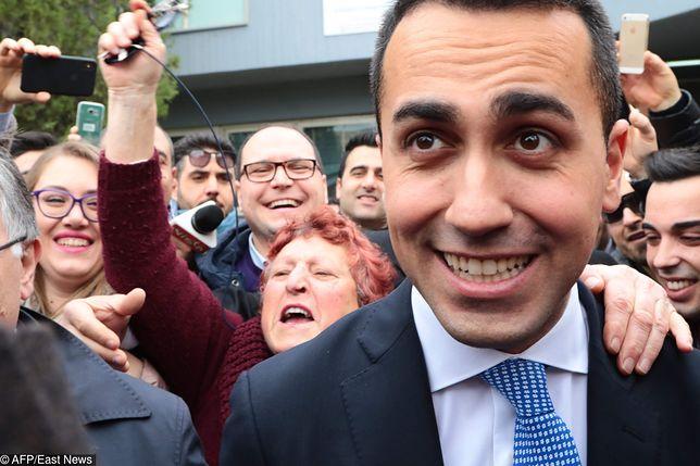 Luigi Di Maio, lider Ruchu Pięciu Gwiazd, ma powody do zadowolenia