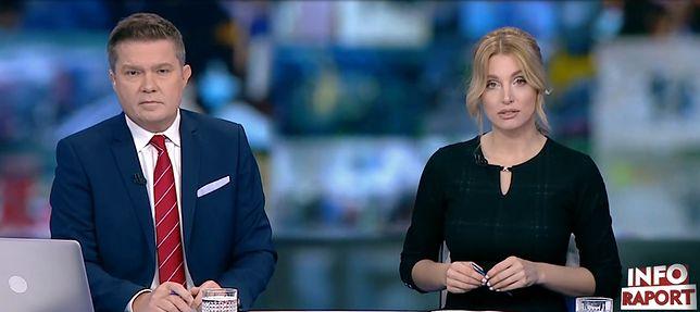Dziennikarze stacji TVP Info: Sławomir Siezieniewski i Karolina Pajączkowska