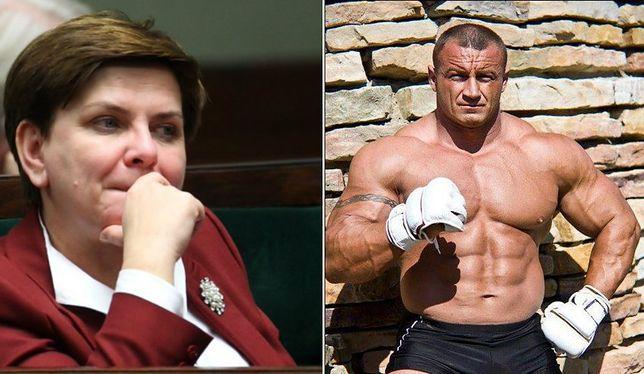 """Pudzianowski dopinguje Beatę Szydło. """"BRAWOOOOO!"""""""