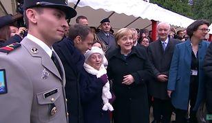 Kobieta była pod dużym wrażeniem Merkel i Macrona