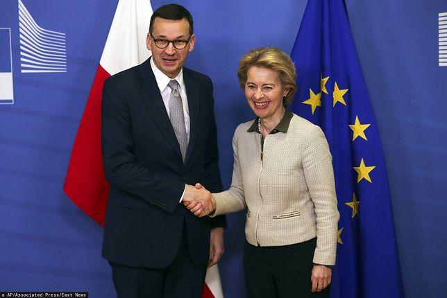Mateusz Morawiecki i Ursula von der Leyen spotkali się w Brukseli