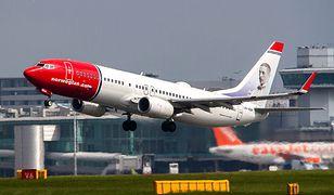 Samolot Norwegian lądował awaryjnie po awarii silnika