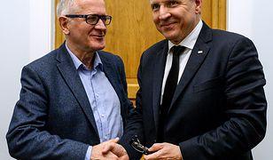 Krzysztof Czabański (z lewej) i Jacek Kurski