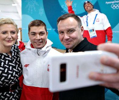 Para prezydencka w Pjongczangu. Andrzej Duda przyćmił swoją żonę stylizacją