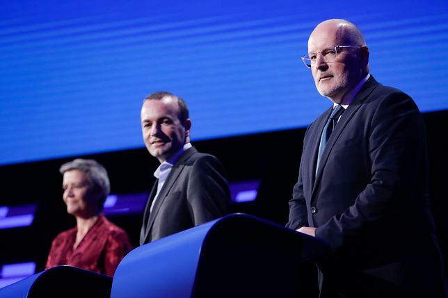 Wybory do PE. Margrethe Vestager, Manfred Weber oraz Frans Timmermans