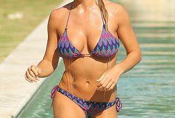 Gemma Atkinson pozuje w hotelowym basenie