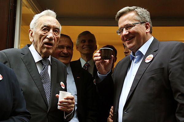 Były premier Tadeusz Mazowiecki oraz prezydent Bronisław Komorowski