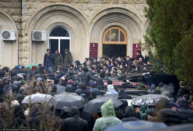 Abchazja. Protesty przed siedzibą prezydenta Raula Chadżymby