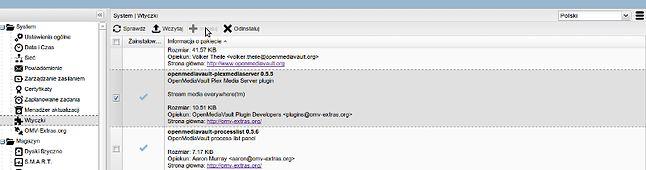 Instalacja Plex Media Server z panelu OMV