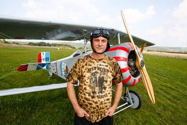 Waldemar Mazera i jego Nieuport 17