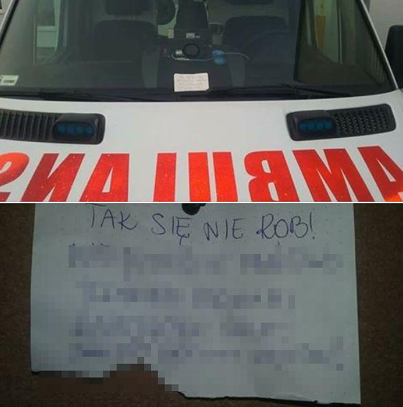 Ratownicy dostali wiadomość od kierowcy