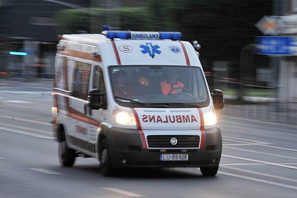 Wypadek wiatrakowca w Darłówku. Ranny 60-letni Niemiec