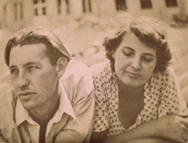 Andrzej Wajda i Gabriela Obremska