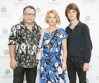 Monika Zamachowska z mężem i synem. Nie zawsze umieli się dogadać