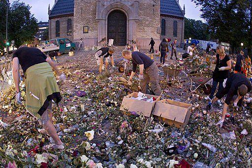 Tony kwiatów złożone w Oslo zamienią się w kompost