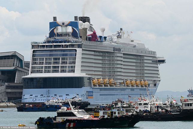 Singapur. Panika na pokładzie statku. Powodem koronawirus