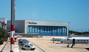 Widok portu lotniczego  Olbia - Costa Smeralda
