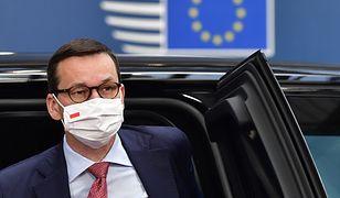 Szczyt UE. Premier Mateusz Morawiecki podczas ostatniego dnia szczytu w Brukseli.