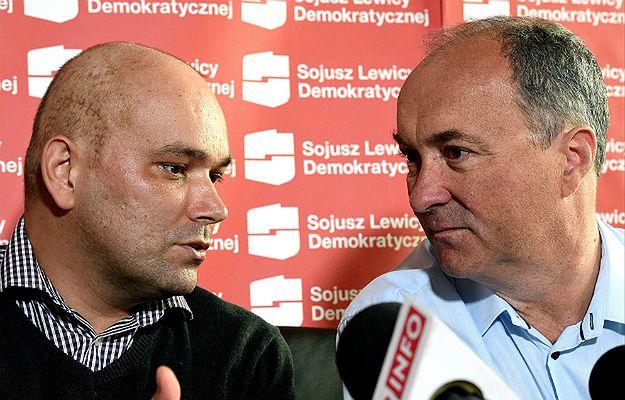 Tomasz Kalita oraz przewodniczący Sojuszu lewicy Demokratycznej Włodzimierz Czarzasty