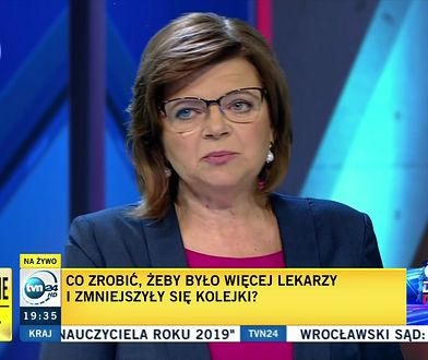 Wybory parlamentarne 2019. Izabela Leszczyna podczas debaty TVN24