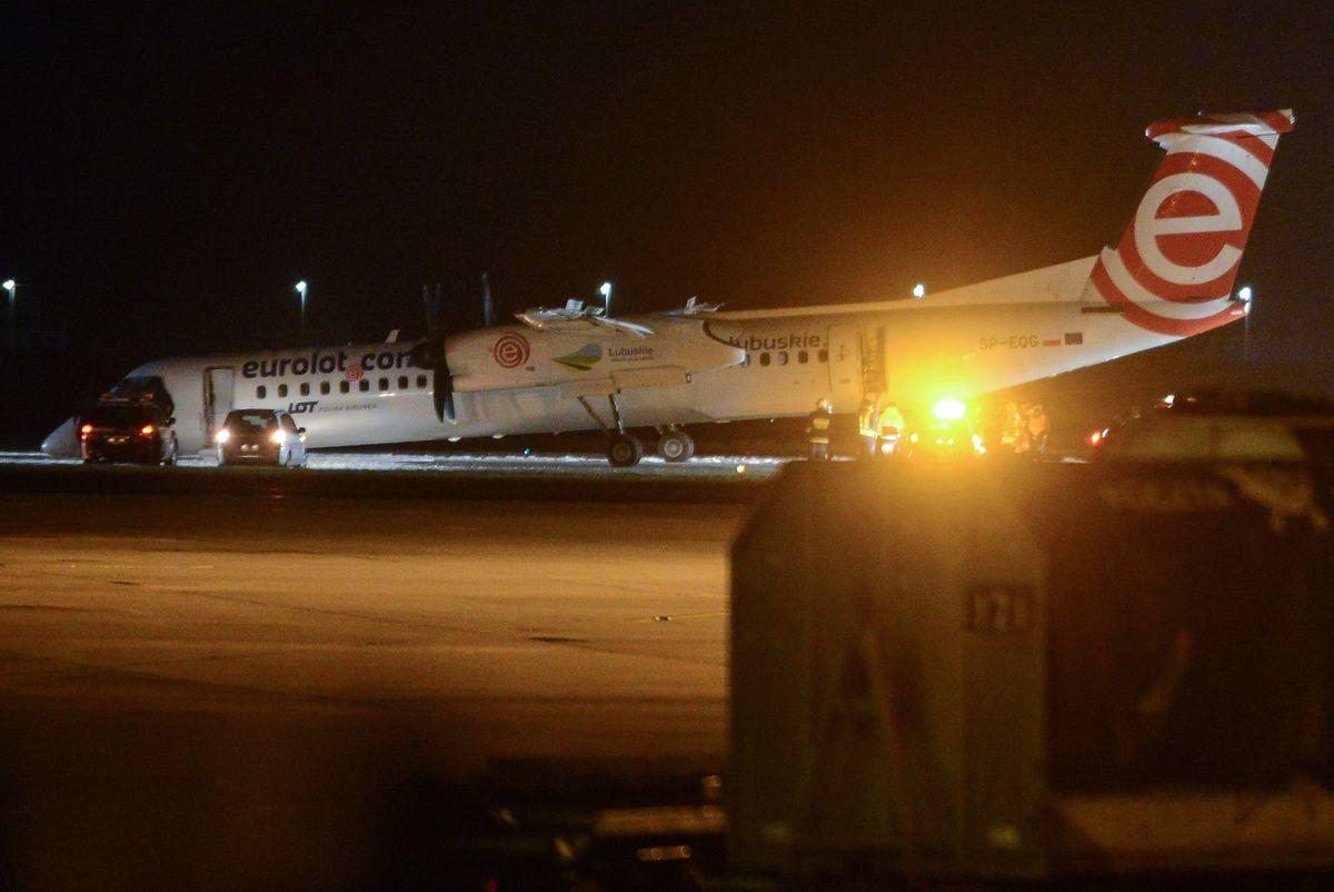 Awaryjne lądowanie na lotnisku Chopina w Warszawie
