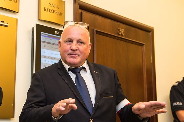 Piotr Rybak po ogłoszeniu wyroku sądu apelacyjnego we Wrocławiu.