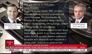 """TVP Info opublikowało nowe fragmenty taśm z restauracji """"Sowa i Przyjaciele""""."""