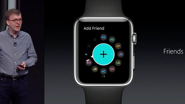 Kevin Lynch podczas premiery Apple Watch