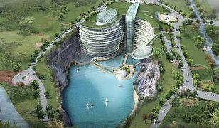 Chiny - w dawnym kamieniołomie powstaje luksusowy hotel